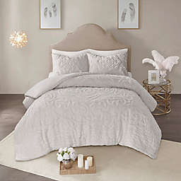 Madison Park Laetitia 3-Piece Full/Queen Duvet Cover Set in Grey