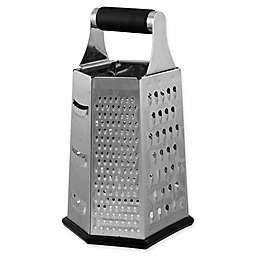 CraftKitchen™ 6-Sided Grater in Black/Silver