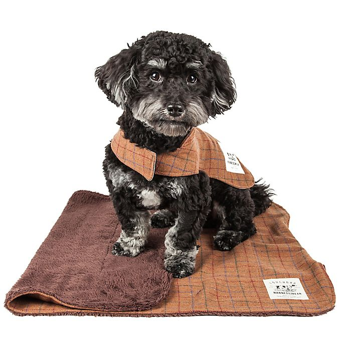 Alternate image 1 for Touchdog® 2-in-1 Windowpane Plaid Dog Jacket with Reversible Dog Mat