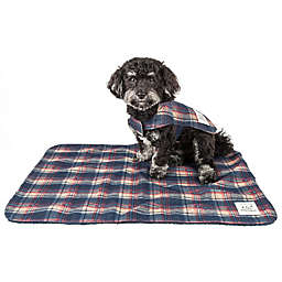 Pet Life® 2-In-1 Tartan Dog Jacket with Matching Reversible Mat