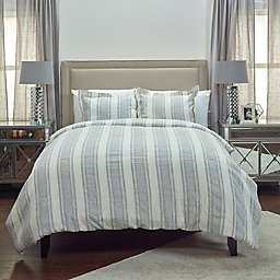 Rizzy Home Charlton Ivy Queen Duvet Cover in Ivory