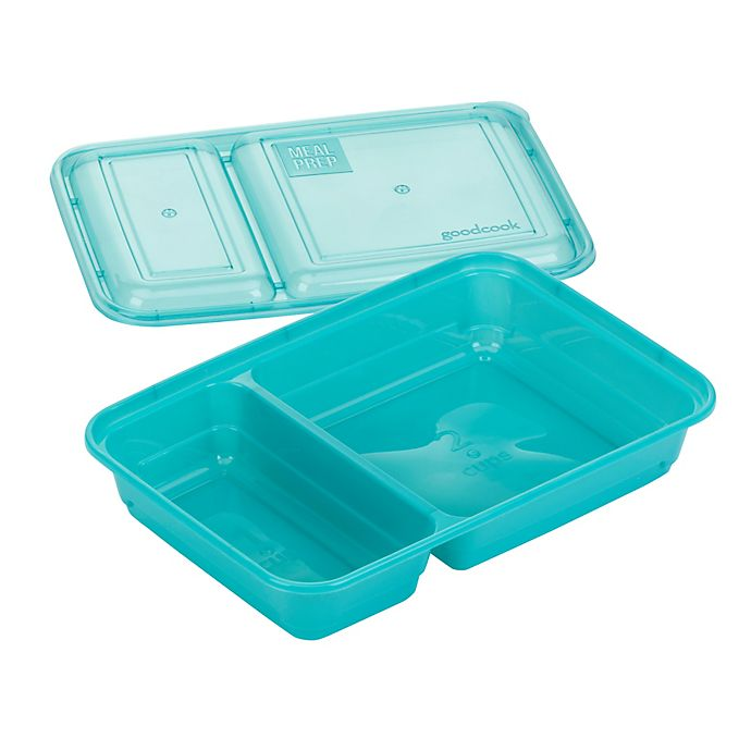 Alternate image 1 for GoodCook Meal Prep 2-Compartment Food Storage Containers (10-Pack) in Blue