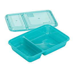 GoodCook Meal Prep 2-Compartment Food Storage Containers (10-Pack) in Blue
