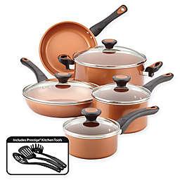 Farberware® Glide™ Nonstick Copper Ceramic 12-Piece Cookware Set in Copper