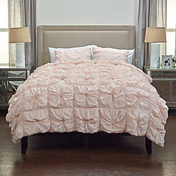 Rizzy Home Solid King Comforter Set in Pink