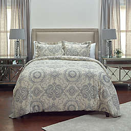 Rizzy Home Elma Medallion Twin/Twin XL Duvet Cover Set in Grey