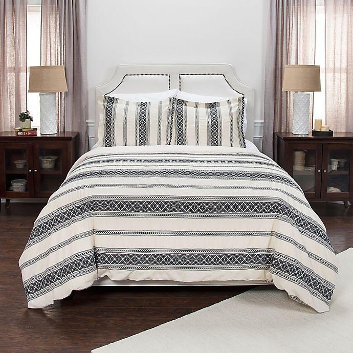 Alternate image 1 for Rizzy Home Geometric Stripe Duvet Cover Set