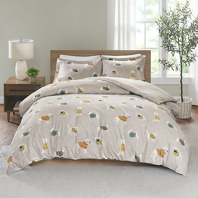 Alternate image 1 for True North by Sleep Philosophy Flannel Duvet Cover Set
