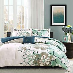 Mi Zone Allison Reversible Comforter Set in Blue/Grey