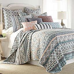 Levtex Home Addie Reversible King Quilt Set in Blue/Pink
