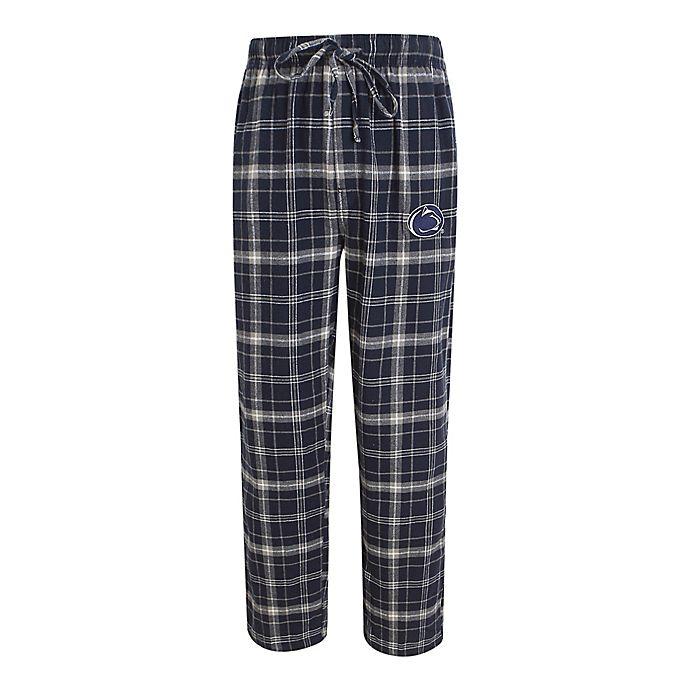 Alternate image 1 for Penn State Men's 2XL Flannel Plaid Pajama Pant with Left Leg Team Logo