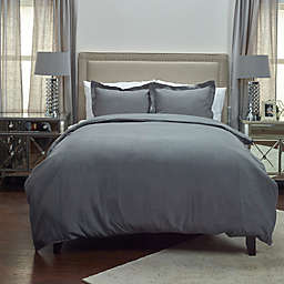 Rizzy Home Covington King Duvet Cover in Charcoal