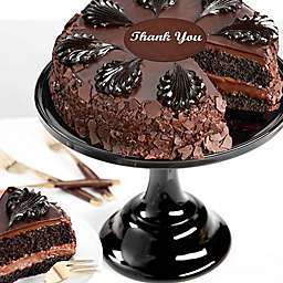 Chocolate Mousse Thank You Cake