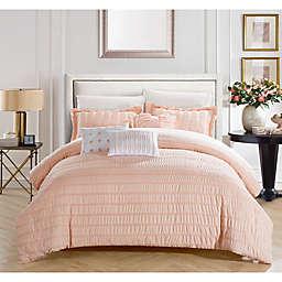 Dazza 6-Piece Queen Comforter Set in Coral