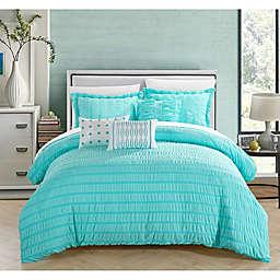 Dazza 6-Piece Queen Comforter Set in Blue