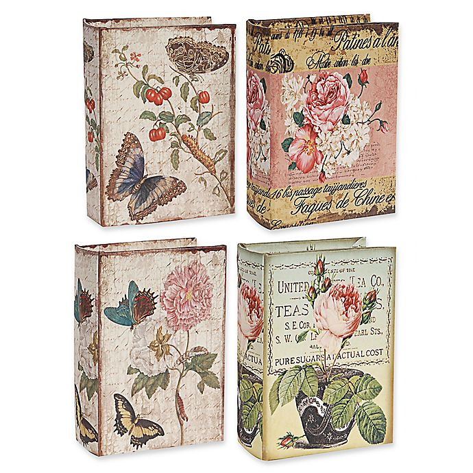Alternate image 1 for A&B Home Nature Lover's Book Boxes (Set of 4)