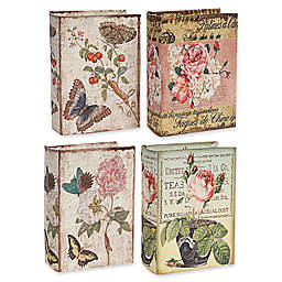 A&B Home Nature Lover's Book Boxes (Set of 4)