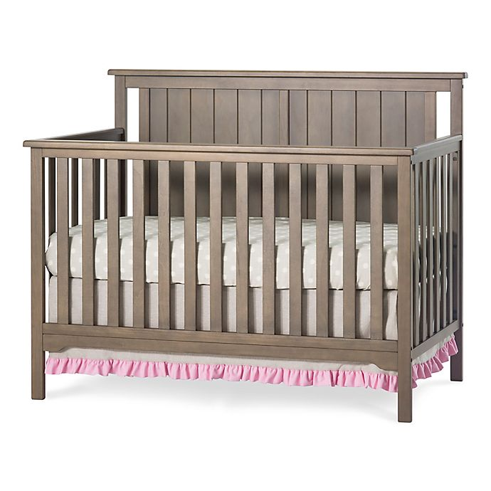 Alternate image 1 for Child Craft™ Forever Eclectic™ Cottage Flat Top 4-in-1 Convertible Crib