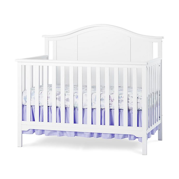 Alternate image 1 for Child Craft™ Forever Eclectic™ Cottage Arch Top 4-in-1 Convertible Crib in Matte White