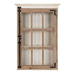Kate and Laurel™ Hutchins Decorative Windowpane Wall Storage Cabinet in Natural