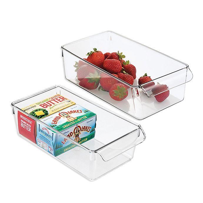 Alternate image 1 for iDesign® Linus Pullz 11.5-Inch x 6-Inch Organizer Box (Set of 2)