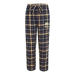 University of Notre Dame Men's Flannel Plaid Pajama Pant with Left Leg Team Logo