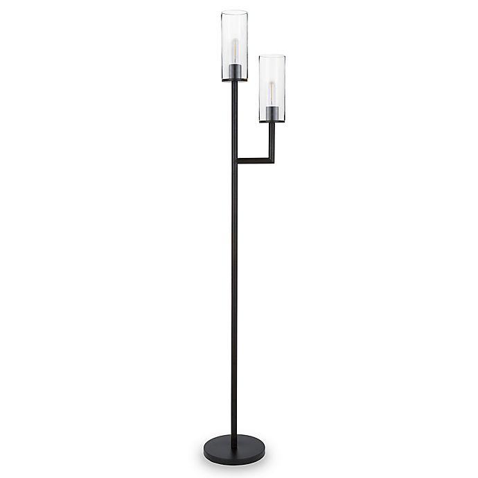 Alternate image 1 for Hudson&Canal® Basso 2-Light Floor Lamp in Black