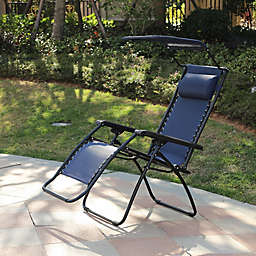 Zero Gravity Outdoor Recliner Chair with Canopy