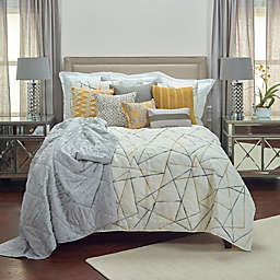 Rizzy Home Julian Twin XL Quilt in Ivory