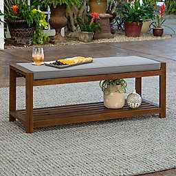 Forest Gate Arvada Acacia Wood Outdoor Bench in Grey
