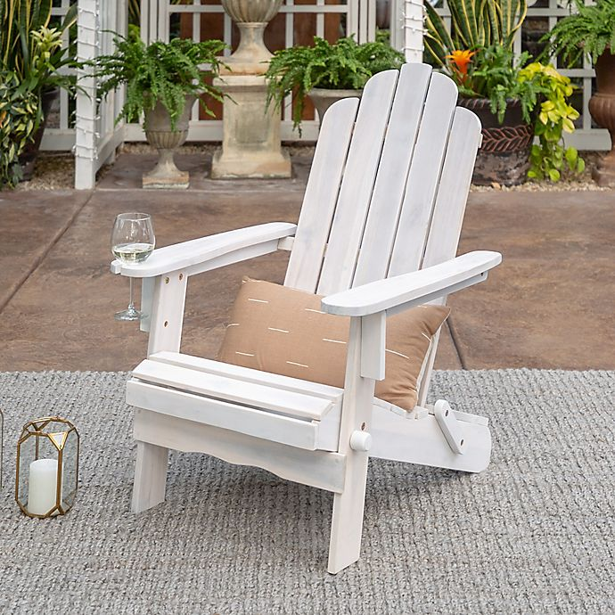 Alternate image 1 for Forest Gate Arvada Acacia Outdoor Folding Adirondack Chair