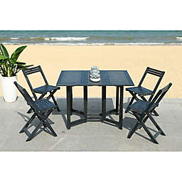 Safavieh Arvin 5-Piece Patio Dining Set in Black