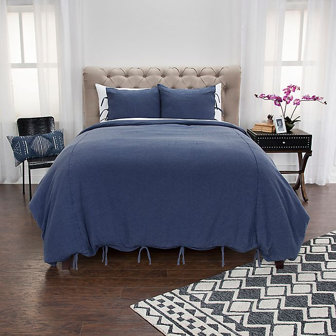 Alternate image 1 for Donny Osmond™ Cotton Wood King Duvet Cover Set in Blue