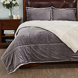 Peace Nest Down Alternative Queen Comforter in Grey