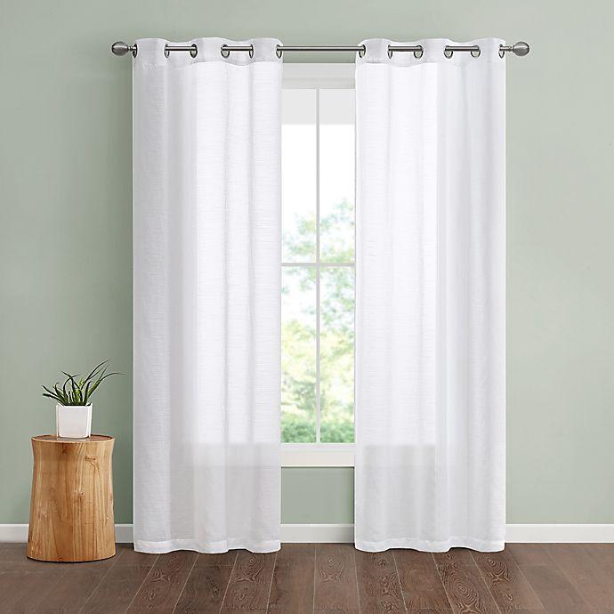 Alternate image 1 for SALT™ Lora Grommet Sheer Window Curtain Panels (Set of 2)