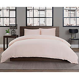 Keeco Garment Washed Solid 2-Piece Twin/Twin XL Duvet Cover Set in Ballet