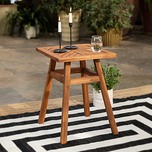 Alternate image 1 for Forest Gate Olive Acacia Outdoor Side End Table