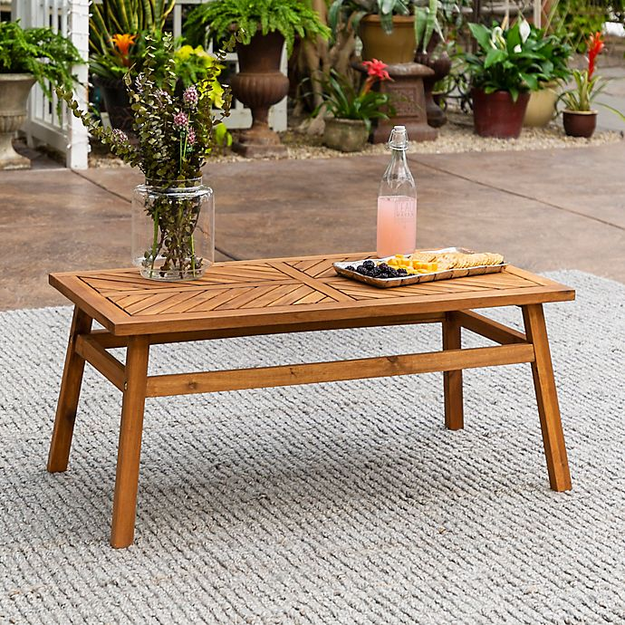 Alternate image 1 for Forest Gate Olive Outdoor Acacia Wood Coffee Table