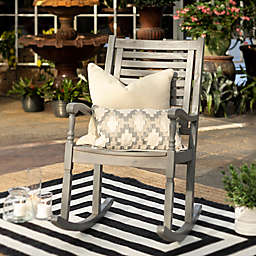 Forest Gate Eagleton Acacia Outdoor Deep Seated Rocking Chair in Grey Wash