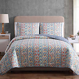 MHF Home Colleen Reversible Twin Quilt Set in Yellow/Green