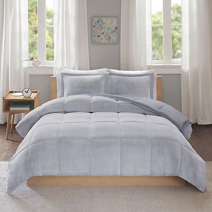 Alternate image 1 for Intelligent Design Carson 3-Piece Reversible King/California King Comforter Set in Grey