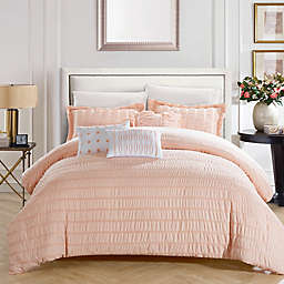 Chic Home Daza 10-Piece Queen Comforter Set in Coral
