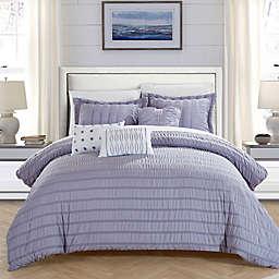Chic Home Daza 10-Piece King Comforter Set in Lavender