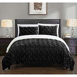 Chic Home Thirsa 7-Piece Queen Comforter Set in Black