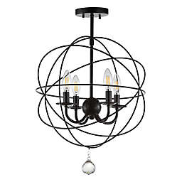 """JONATHAN Y Alma 12"""" Metal LED Flush Mount in Oil Rubbed Bronze"""