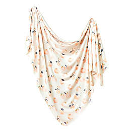 Copper Pearl™ Caroline Peach Swaddle Blanket in Orange/White