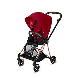 CYBEX Mios Stroller with Rose Gold Frame and True Red Seat