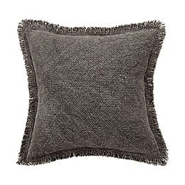 Bridge Street Harper Fringe Square Throw Pillow in Grey