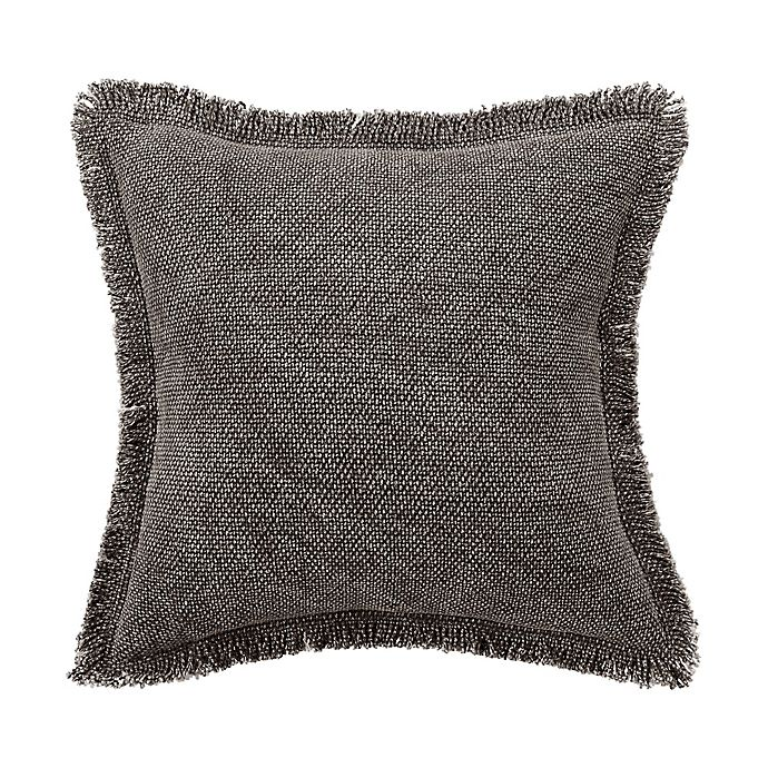 Alternate image 1 for Bridge Street Harper Fringe Square Throw Pillow in Grey