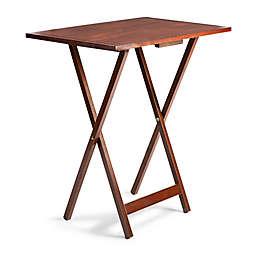 Farmhouse 5-Piece Oversized Snack Table Set in Walnut